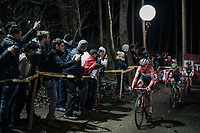 Marianne Vos (NED/WM3 Energie) leading the race<br /> <br /> Women's Race<br /> Superprestige Diegem / Belgium 2017