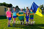 A Kerry Jersey signed by Kerry Senior Footballers Paudie and David Clifford and their cousin Paul O'Shea was presented by their grandfather Pat O'Shea who resides in Ballymac to the Ballymac LFGA on Monday evening. Pat presented the jersey to Ballymacelligott LGFA PRO Veronica O'Donnell and Senior Player Kate O'Connor. Pats grandchildren Shane, Cian and Aoife Gilroy who all play for Ballymac helped their grandfather with the presentation.  L to r: Veronica O'Donnell (PRO of the Ladies Club), Kate O'Connor, Pat O'Shea, Shane, Kian and Aoife Gilroy.