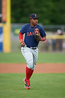 Salem Red Sox right fielder Kyri Washington (21) jogs to the dugout during the first game of a doubleheader against the Potomac Nationals on May 13, 2017 at G. Richard Pfitzner Stadium in Woodbridge, Virginia.  Potomac defeated Salem 6-0.  (Mike Janes/Four Seam Images)
