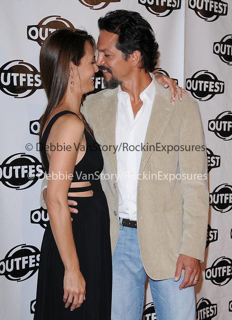 Benjamin Bratt & Talisa Soto at The 2009 Outfest Opening Night Gala of LA MISSION held at The Orpheum Theatre in Los Angeles, California on July 09,2009                                                                   Copyright 2009 Debbie VanStory / RockinExposures