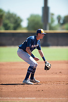 Milwaukee Brewers third baseman Chad McClanahan (72) during an Instructional League game against the San Diego Padres at Peoria Sports Complex on September 21, 2018 in Peoria, Arizona. (Zachary Lucy/Four Seam Images)