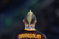 Calcio, Serie A:  Roma vs Palermo. Roma, stadio Olimpico, 21 febbraio 2016. <br /> Roma's Radja Nainggolan walks on the pitch during the Italian Serie A football match between Roma and Palermo at Rome's Olympic stadium, 21 February 2016.<br /> UPDATE IMAGES PRESS/Riccardo De Luca