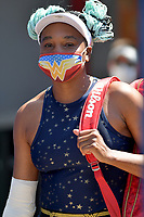 MIAMI GARDENS, FL - MARCH 23: Venus Williams seen playing on day 2 of the Miami Open on March 23, 2021 at Hard Rock Stadium in Miami Gardens, Florida. <br /> <br /> <br /> People:  Venus Williams