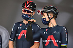 Michal Kwiatkowski (POL) and Team Ineos Grenadiers at sign on before La Fleche Wallonne 2020, running 202km from Herve to Mur de Huy, Belgium. 30th September 2020.<br /> Picture: ASO/Gautier Demouveaux   Cyclefile<br /> All photos usage must carry mandatory copyright credit (© Cyclefile   ASO/Gautier Demouveaux)