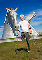Dr Bob Grant, who lost his leg to cancer, launches the fundraising drive for his 117-mile walk for Maggie's at the Kelpies......<br /> <br /> Dr Bob's walk will start on Saturday 13 June at the Kelpies. Walking for nine continuous days, joined by groups of friends and supporters along the way, Bob will arrive at Maggie's Dundee on Sunday 21 June.  On the final day of his walk, Dr Bob will be joined by up to 100 riders from Harley Davidson Dunedin Chapters throughout Scotland.....  <br />   <br /> (See Press release from Helen Harris, Maggies PR Officer Scotland.  T: 0141 225 0082.  M: 07769145260)