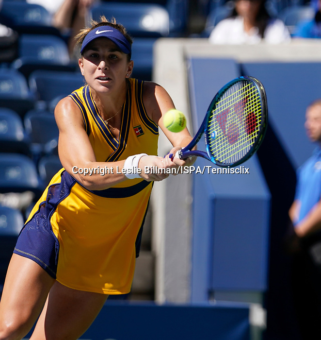September  6, 2021:  Belinda Bencic (SUI) defeated Iga Swiatek 6-4, 7-6, at the US Open being played at Billy Jean King Ntional Tennis Center in Flushing, Queens, New York / USA  ©Jo Becktold/Tennisclix/CSM/CSM