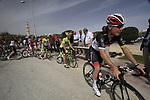 Radioshack-Nissan Trek rider Giacomo Nizzolo (ITA) signs on before the start of the 3rd Stage of the 2012 Tour of Qatar running 146.5km from Dukhan Souq, Dukhan to Al Gharafa, Qatar. 7th February 2012.<br /> (Photo Eoin Clarke/Newsfile)