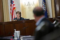 United States Senator Susan Collins (Republican of Maine) speaks during a United States Senate Aging Committee hearing at the United States Capitol in Washington D.C., U.S. on Thursday, May 21, 2020.  Credit: Stefani Reynolds / CNP/AdMedia