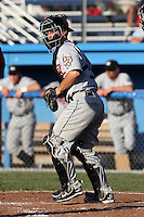 Tri-City ValleyCats catcher Ryan McCurdy #2 during a game against the Batavia Muckdogs at Dwyer Stadium on July 15, 2011 in Batavia, New York.  Batavia defeated Tri-City 4-3.  (Mike Janes/Four Seam Images)