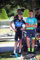 Sam Crome and Mike Cuming. UCI Oceania Tour - NZ Cycling Classic stage one - Masterton to Gladstone circuit in Wairarapa, New Zealand on Wednesday, 20 January 2016. Photo: Dave Lintott / lintottphoto.co.nz