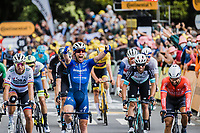 Mark Cavendish (GBR/Deceuninck-Quick Step) wins the bunch sprint.<br /> <br />  Stage 4 from Redon to Fougiéres (150.4km)<br /> 108th Tour de France 2021 (2.UWT)<br /> <br /> ©kramon