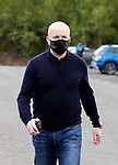 St Johnstone v Livingston…15.05.21  SPFL McDiarmid Park<br />Livingston manager David Martindale arrives at McDiarmid Park for the final league game of the season<br />Picture by Graeme Hart.<br />Copyright Perthshire Picture Agency<br />Tel: 01738 623350  Mobile: 07990 594431