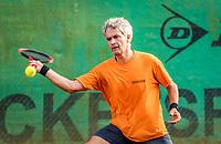 Hilversum, The Netherlands,  August 20, 2021,  Tulip Tennis Center, NKS, National Senior Tennis Championships, Men's single 55+, Edwin Schuchmann (NED)   Theo Hoek (NED)<br /> Photo: Tennisimages/Henk Koster