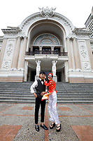 Bouddhist couple engagement photo shoot illustration in District one  - Ho Chi Minh City.