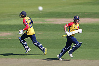 Tom Westley and Dan Lawrence add to the Essex total during Hampshire Hawks vs Essex Eagles, Vitality Blast T20 Cricket at The Ageas Bowl on 16th July 2021