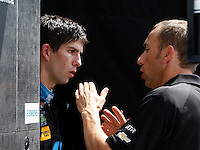 Ricky Taylor, L, Max Angelelli, IMSA Tudor Series Race, Road America, Elkhart Lake, WI, August 2014.  (Photo by Brian Cleary/ www.bcpix.com )