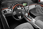 High angle dashboard view of a 2011 Cadillac CTS Coupe Premium