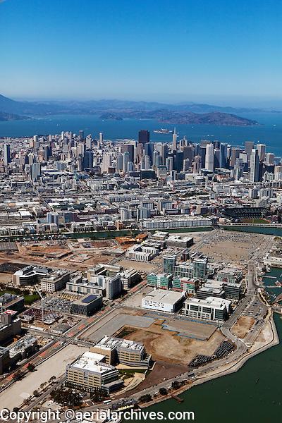 Historical aerial photograph of Mission Bay, San Francisco, California, 2013