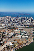 Historical aerial photograph of Mission Bay, San Francisco, California, 2013