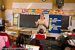 K-8 Parochial School Bronx New York Grade 4 female teacher  talking to class horizontal
