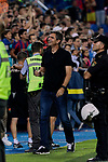 CD Leganes's coach Mauricio Pellegrino celebrates the victory during La Liga match between CD Leganes and FC Barcelona at Butarque Stadium in Madrid, Spain. September 26, 2018. (ALTERPHOTOS/A. Perez Meca)