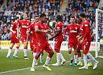 22.09.2019 St Johnstone v Rangers: Alfredo Morelos celebrates his goal