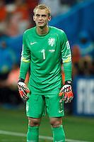 Goalkeeper Jasper Cillessen of the Netherlands looks dejected