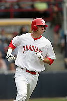 July 11 2009: Ryan Ortiz of the Vancouver Canadians during game against the Boise Hawks at Nat Bailey Stadium in Vancouver,BC..Photo by Larry Goren/Four Seam Images