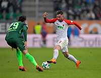 17.03.2018,  Football 1.Liga 2017/2018, 27. match day, FC Augsburg - SV Werder Bremen, in WWK-Arena Augsburg, re: Marco Richter (FC Augsburg). *** Local Caption *** © pixathlon<br /> <br /> +++ NED out !!! +++<br /> Contact: +49-40-22 63 02 60 , info@pixathlon.de