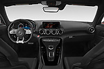 Stock photo of straight dashboard view of 2020 Mercedes Benz AMG-GT - 3 Door Coupe Dashboard