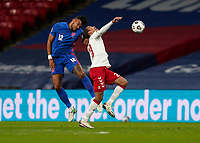 Tyrone Mings (Aston Villa) of England during the UEFA Nations League match played behind closed doors due to the current government Covid-19 rules within sports venues between England and Denmark at Wembley Stadium, London, England on 14 October 2020. Photo by Andy Rowland.