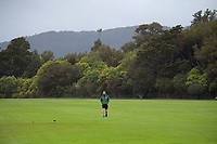 Onslow captain Sean O'Connor checks the field as rain delays play in the Ewen Chatfield One-day Trophy Wellington premier men's division one cricket match between Upper Hutt United and Onslow at Trentham Memorial Park in Upper Hutt, New Zealand on Saturday, 17 October 2020. Photo: Dave Lintott / lintottphoto.co.nz