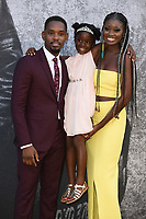 "Aml Ameen, Myla-Rae Hutchinson-Dunwell and Shantol Jackson<br /> arriving for the premiere of ""Yardie"" at the BFI South Bank, London<br /> <br /> ©Ash Knotek  D3422  21/08/2018"