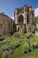Europe/France/Midi-Pyrénées/46/Lot/Cahors: Le jardin bouquetier au Chevet de la Cathédrale Saint-Etienne fait partie des jardins secrets de Cahors