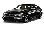 2018 BMW 5 Series base 4 Door Sedan angular front stock photos of front three quarter view