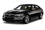 2018 BMW 5 Series base 4 Door Sedan angular front stock photos of front three quarter view
