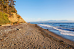 Glowing light at Fort Ebey State Park Beach.  Whibey Island, WA.