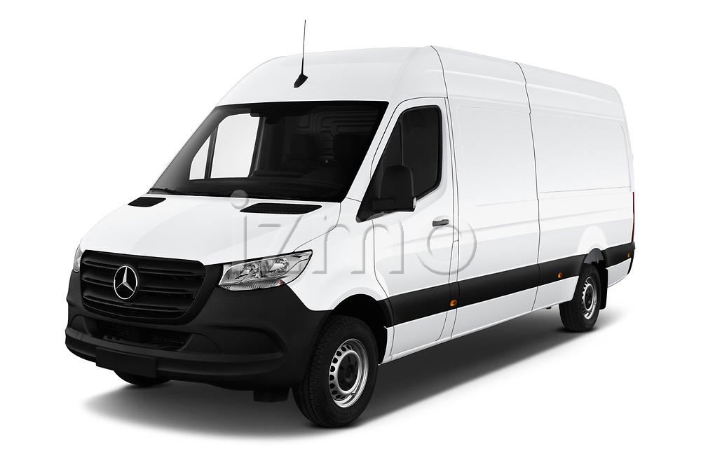 2019 Mercedes Benz Sprinter Cargo Van Base 4 Door Cargo Van angular front stock photos of front three quarter view