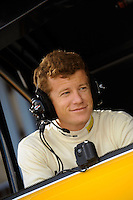 12-15 March 2008, Sebring, Florida, USA.Patrick Long listens in on team communications during practice for the Sebring 12 Hours..©F.Peirce Williams 2008, USA .