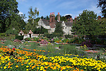 Great Britain, England, East Sussex, Lewes: Southover Grange Gardens in Summer. Elizabethan house was built in 1572 by William Newton, the Earl of Dorset