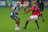 4th July 2021; Arena do Gremio, Porto Alegre, Brazil; Brazilian Serie A, Gremio versus Atletico Goianiense; Jean Pyerre of Gremio takes on Gabriel Baralhas of Atletico Goianiense
