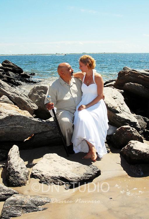 Mary Jane Foxworth and Joseph Maldomado's wedding at Brighton Beach in Brooklyn, NY on Saturday, August 23, 2008.