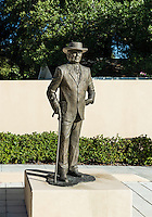 Sculpture of Frank Loyd Wright at the Sharp Family Tourism and Education Center,