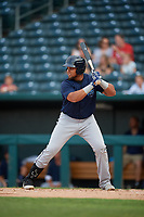 Mobile BayBears Jhoan Urena (14) at bat during a Southern League game against the Jacksonville Jumbo Shrimp on May 28, 2019 at Baseball Grounds of Jacksonville in Jacksonville, Florida.  Mobile defeated Jacksonville 2-1.  (Mike Janes/Four Seam Images)