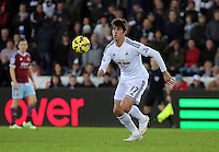 Pictured: Nelson Oliveira, the new signing for Swansea Saturday 10 January 2015<br /> Re: Barclays Premier League, Swansea City FC v West Ham United at the Liberty Stadium, south Wales, UK