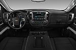 Stock photo of straight dashboard view of 2018 Chevrolet Silverado-1500 LT-Z71-Crew 4 Door Pick-up Dashboard