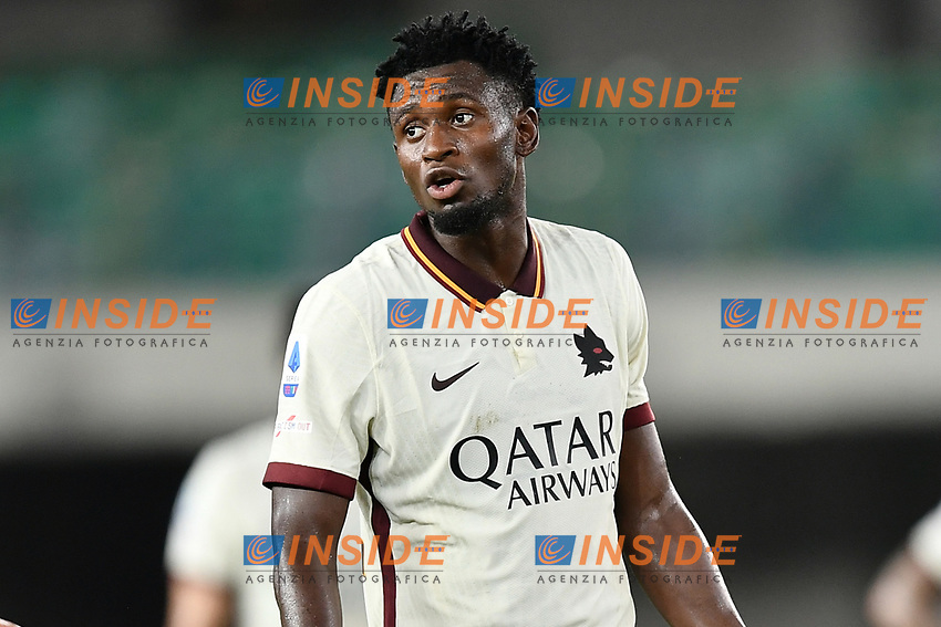 Amadou Diawara <br /> Serie A football match between Hellas Verona and AS Roma at Marcantonio Bentegodi Stadium in Verona (Italy), September 19th, 2020. Photo Image Sport / Insidefoto