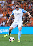 BRISBANE, AUSTRALIA - OCTOBER 30: Neil Kilkenny of Melbourne passes the ball during the round 5 Hyundai A-League match between the Brisbane Roar and Melbourne City at Suncorp Stadium on November 4, 2016 in Brisbane, Australia. (Photo by Patrick Kearney/Brisbane Roar)