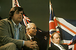 Martin Webster and John Tyndall at a NF meeting central LOndon 1970's.