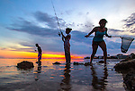 Youngsters fish and explore Shell Point beach along the forgotten coast area of Wakulla County in the north Florida panhandle.